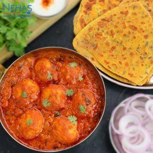 Dum aloo & masala paratha
